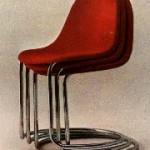 Sedia in tubolare curvato - Bernini
